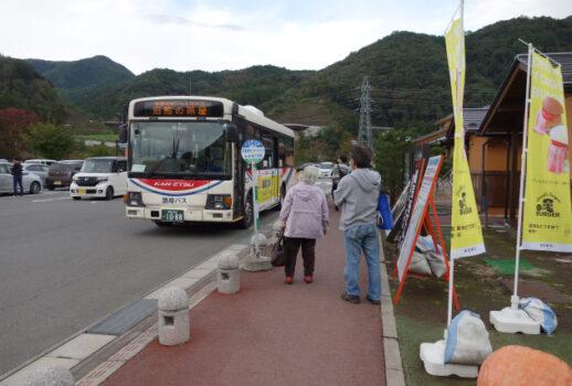 吾妻渓谷の紅葉はシャトルバスでどうぞ!本日運行開始!